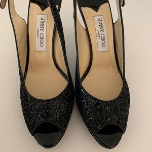Jimmy Choo Glitter Fabric, Black